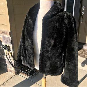 Vintage Black Shearling Fur Jacket